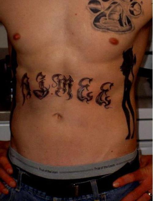 stomach tattoo ideas